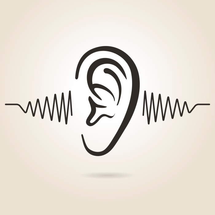 ear icon on light background