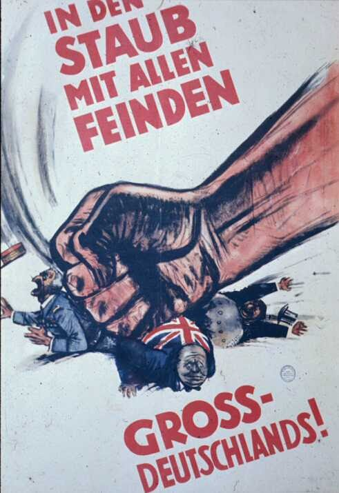 Smash the Enemies of Greater Germany- WW2 NAZI PROPAGANDA POSTER