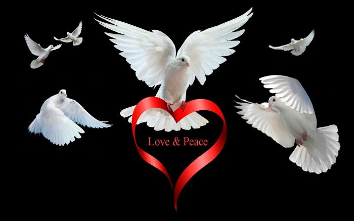 Love Peace HD Desktop Background